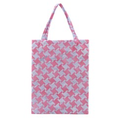 Houndstooth2 White Marble & Pink Watercolor Classic Tote Bag