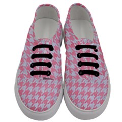 Houndstooth1 White Marble & Pink Watercolor Men s Classic Low Top Sneakers
