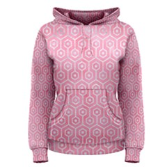 Hexagon1 White Marble & Pink Watercolor Women s Pullover Hoodie