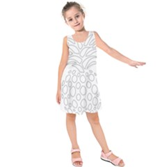 Pinapplesilvergray Kids  Sleeveless Dress