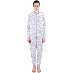 Pinapplesilvergray Hooded Jumpsuit (ladies)