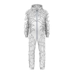 Pinapplesilvergray Hooded Jumpsuit (kids)