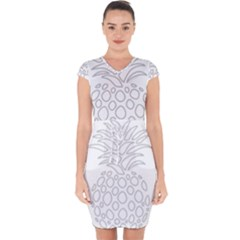 Pinapplesilvergray Capsleeve Drawstring Dress