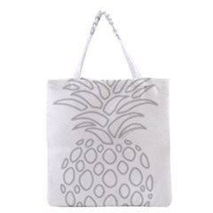 Pinapplesilvergray Grocery Tote Bag