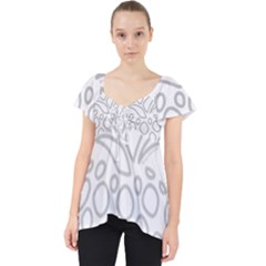 Pinapplesilvergray Lace Front Dolly Top