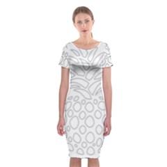 Pinapplesilvergray Classic Short Sleeve Midi Dress