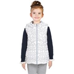 Pinapplesilvergray Kid s Hooded Puffer Vest