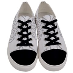 Pinapplesilvergray Men s Low Top Canvas Sneakers
