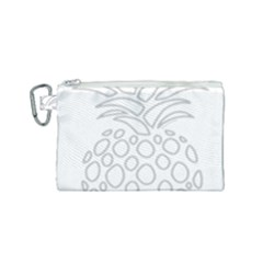 Pinapplesilvergray Canvas Cosmetic Bag (small) by BohoRainbow