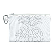 Pinapplesilvergray Canvas Cosmetic Bag (large)