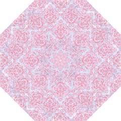 Damask1 White Marble & Pink Watercolor (r) Straight Umbrellas