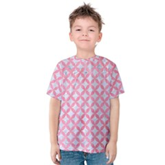 Circles3 White Marble & Pink Watercolor (r) Kids  Cotton Tee