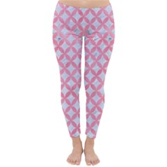 Circles3 White Marble & Pink Watercolor (r) Classic Winter Leggings