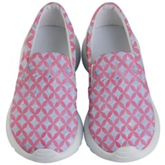 Circles3 White Marble & Pink Watercolor (r) Kid s Lightweight Slip Ons
