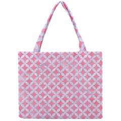 Circles3 White Marble & Pink Watercolor Mini Tote Bag