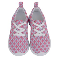 Circles3 White Marble & Pink Watercolor Running Shoes