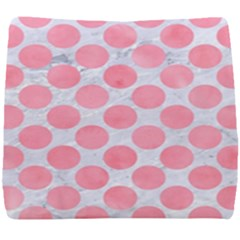 Circles2 White Marble & Pink Watercolor (r) Seat Cushion