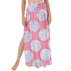 Circles2 White Marble & Pink Watercolor Maxi Chiffon Tie Up Sarong