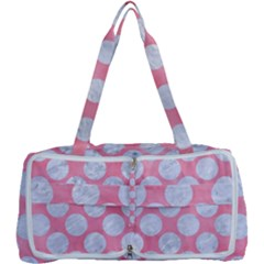 Circles2 White Marble & Pink Watercolor Multi Function Bag