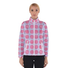 Circles1 White Marble & Pink Watercolor (r) Winterwear
