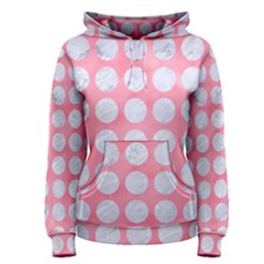 Circles1 White Marble & Pink Watercolor Women s Pullover Hoodie