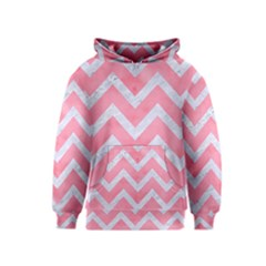 Chevron9 White Marble & Pink Watercolor Kids  Pullover Hoodie