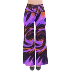 Swirl Black Purple Orange So Vintage Palazzo Pants