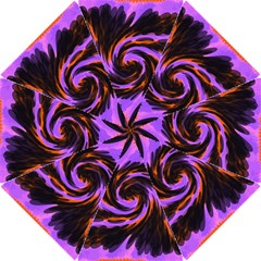 Swirl Black Purple Orange Hook Handle Umbrellas (small)