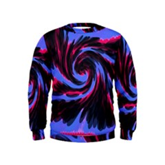 Swirl Black Blue Pink Kids  Sweatshirt