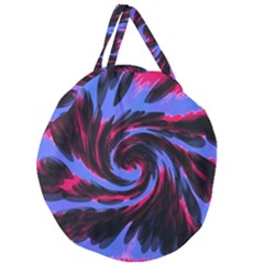 Swirl Black Blue Pink Giant Round Zipper Tote