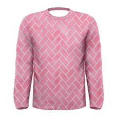 Brick2 White Marble & Pink Watercolor Men s Long Sleeve Tee
