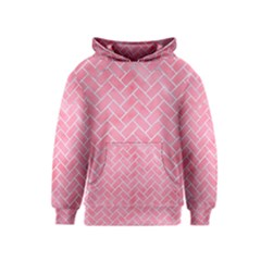 Brick2 White Marble & Pink Watercolor Kids  Pullover Hoodie