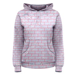 Brick1 White Marble & Pink Watercolor (r) Women s Pullover Hoodie