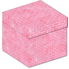 Brick1 White Marble & Pink Watercolor Storage Stool 12