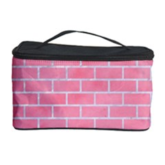 Brick1 White Marble & Pink Watercolor Cosmetic Storage Case