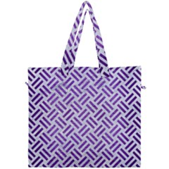 Woven2 White Marble & Purple Brushed Metal (r) Canvas Travel Bag by trendistuff