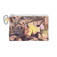 Spring Flowers Canvas Cosmetic Bag (medium)