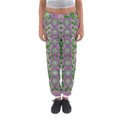 Ivy And  Holm Oak With Fantasy Meditative Orchid Flowers Women s Jogger Sweatpants