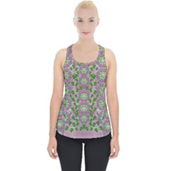 Ivy And  Holm Oak With Fantasy Meditative Orchid Flowers Piece Up Tank Top by pepitasart