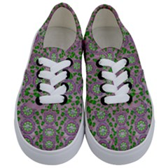 Ivy And  Holm Oak With Fantasy Meditative Orchid Flowers Kids  Classic Low Top Sneakers