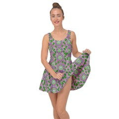 Ivy And  Holm Oak With Fantasy Meditative Orchid Flowers Inside Out Casual Dress
