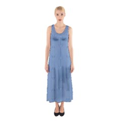 Mod Twist Stripes Blue And White Sleeveless Maxi Dress