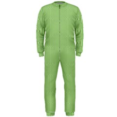Mod Twist Stripes Green And White Onepiece Jumpsuit (men)