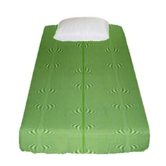 Mod Twist Stripes Green And White Fitted Sheet (single Size)