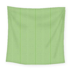 Mod Twist Stripes Green And White Square Tapestry (large)
