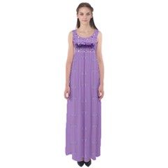 Mod Twist Stripes Purple And White Empire Waist Maxi Dress
