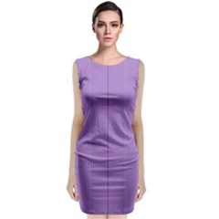 Mod Twist Stripes Purple And White Classic Sleeveless Midi Dress