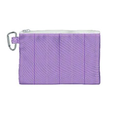 Mod Twist Stripes Purple And White Canvas Cosmetic Bag (medium)