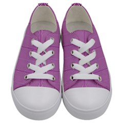 Mod Twist Stripes Pink And White Kids  Low Top Canvas Sneakers