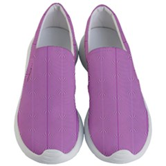 Mod Twist Stripes Pink And White Women s Lightweight Slip Ons by BrightVibesDesign